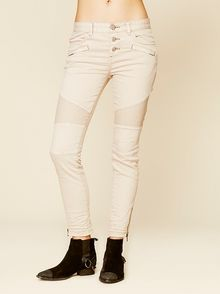 Free People Seamed Moto Skinny - Lyst