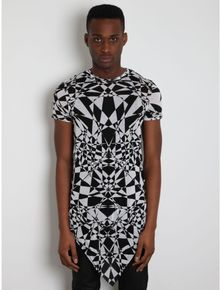 Gareth Pugh Mens Black White Graphic Print Tshirt - Lyst