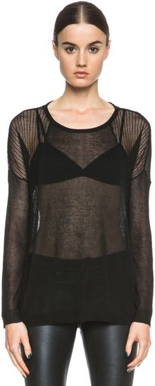 Haute Hippie Oversized Sweater with Mesh - Lyst
