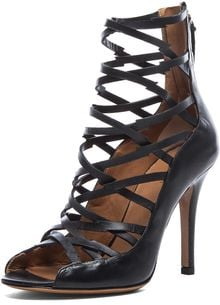 Isabel Marant Paw Calfskin Leather Sandal - Lyst