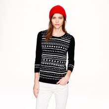 J.Crew Preorder Tippi Sweater in Embroidered Stripe - Lyst