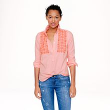 J.Crew Embroidered Neon-stripe Popover - Lyst