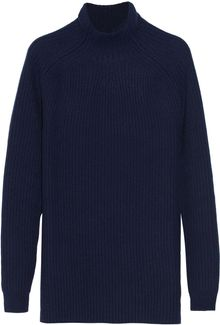 Jil Sander Oversized Ribbed Cashmere Sweater - Lyst