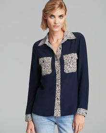 Marc By Marc Jacobs Blouse Bianca Printed Silk - Lyst