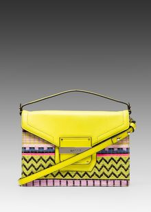 Milly Rich Jacquard Collection Crossbody in Yellow - Lyst