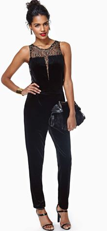Nasty Gal Holiday Ready Velvet Jumpsuit - Lyst