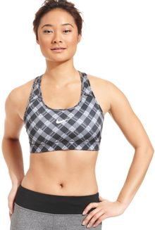 Nike Pro Drifit Plaid Sports Bra - Lyst