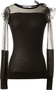 Prabal Gurung Cashmere Black Wool and Silk Top - Lyst