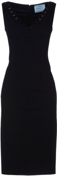 Prada Knee Length Dress - Lyst