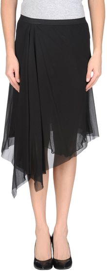 Rick Owens Knee Length Skirt - Lyst