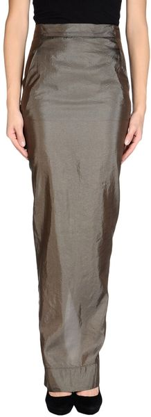 Rick Owens Long Skirt - Lyst