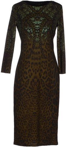 Roberto Cavalli Knee Length Dress - Lyst