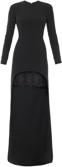 Stella McCartney Millie Cady Lace Trim Dress - Lyst