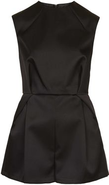 Topshop High Neck Lux Playsuit - Lyst