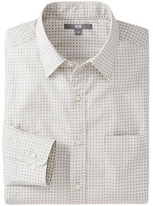 Uniqlo Broadcloth Printed Long Sleeve Shirt - Lyst