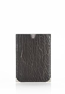 Alexander Wang Prisma Skeletal Ipad Mini Sleeve in Heavy Cracked Black with Rhodium - Lyst
