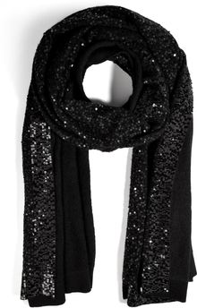 Donna Karan New York Cashmere Sequined Scarf - Lyst