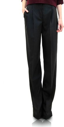 Jil Sander Wool Trousers - Lyst