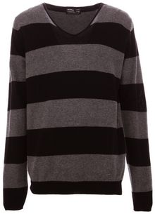 Pull&Bear V Neck Striped Jersey - Lyst