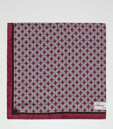 Reiss Abyss Chain Print Silk Pocket Square - Lyst