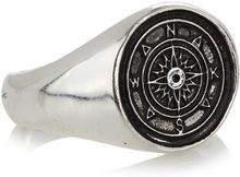 Topman Metal Stamp Ring - Lyst