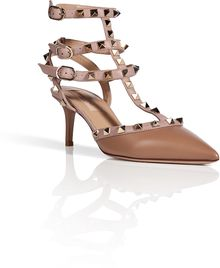 Valentino Leather Rockstud Kitten Heels - Lyst