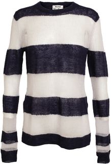 Acne Octave Striped Knitted Jumper - Lyst