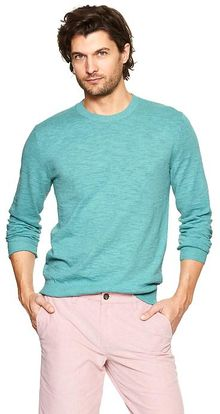 Gap Slub Crewneck Sweater - Lyst