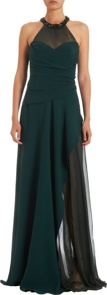 J. Mendel Gathered Layered Front Cutaway Gown - Lyst
