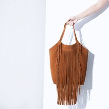Zara Fringed Leather Shopper - Lyst