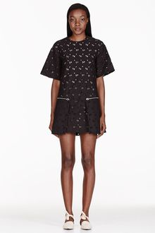 Stella McCartney Black Heart Print Overlay Dress - Lyst
