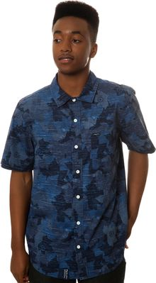 LRG The Woodgrain Camo Ss Buttondown Shirt - Lyst