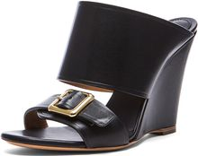 Chloé Strap Leather Mules - Lyst