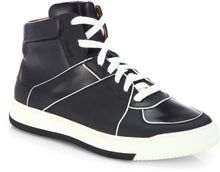 Bally Perforated Hightop Sneakers - Lyst