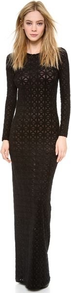 Gareth Pugh Long Sleeve Gown - Lyst