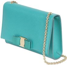 Ferragamo Saffiano Leather Shoulder Bag - Lyst