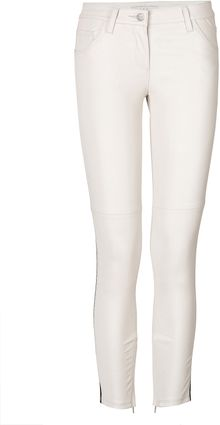 Iro Leather Skinnies with Side Trim - Lyst