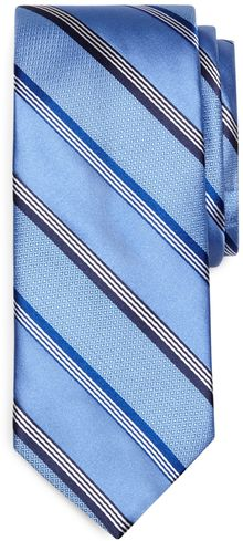 Brooks Brothers Textured Satin Stripe Tie - Lyst