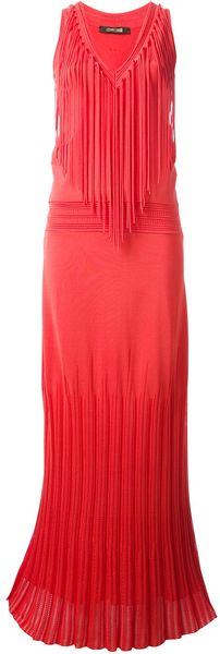 Roberto Cavalli Fringed Evening Gown - Lyst