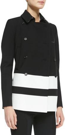 Joseph New Ford Striped Tech Coat - Lyst