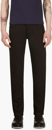 Burberry Prorsum Black Raw Denim Slim Fit Jeans - Lyst
