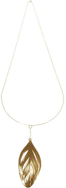 Aurelie Bidermann Leaf Pendant Necklace - Lyst