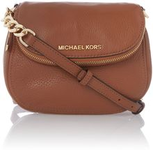 Michael Kors Bedford Tan Flap Over Cross Body Bag - Lyst
