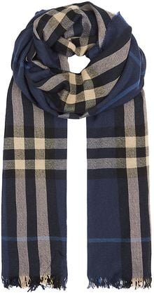 Burberry Check Crinkled Scarf - Lyst