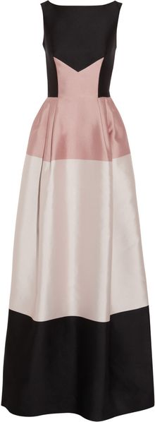 Temperley London Long Freesia Paneled Satintwill Gown - Lyst