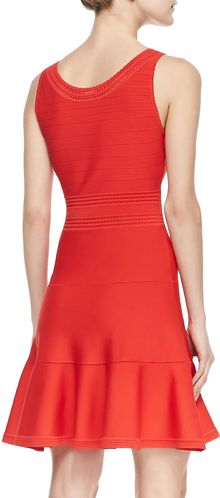 Diane Von Furstenberg Perry Sleeveless Fitandflare Dress Chili Pepper - Lyst