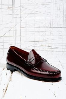 Bass Weejuns Larson Loafers in Burgundy - Lyst