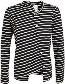 Junya Watanabe Asymmetric Striped Cotton Top - Lyst