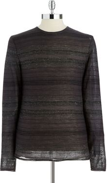 Calvin Klein Striped Crew Neck Sweater - Lyst