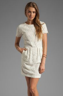 Dolce Vita Sarus Raised Lace Short Sleeve Dress - Lyst